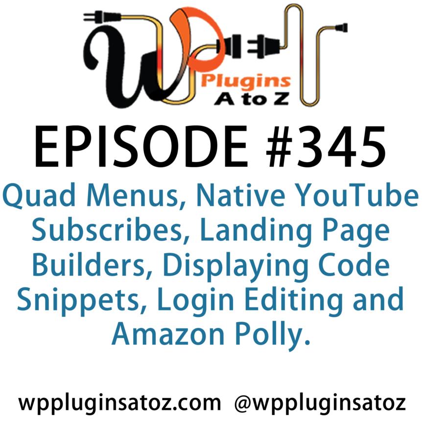 WordPress Plugins A-Z #345 Landing Page Builders