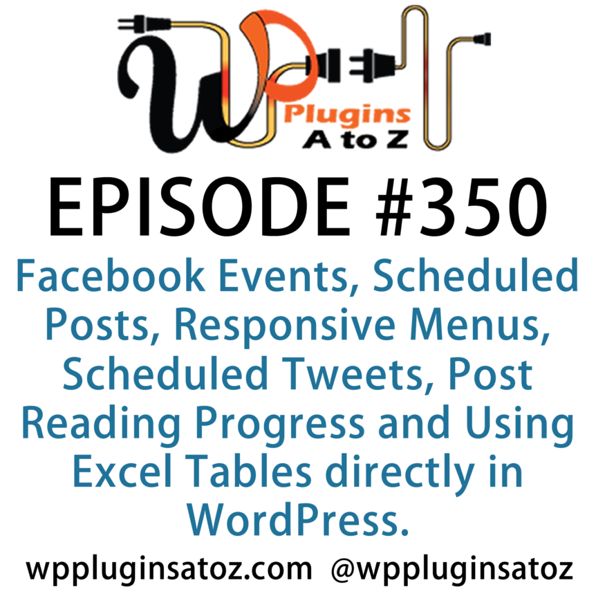 WordPress Plugins A-Z #350 Facebook Events